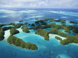 Aerial View of Palau's Rock Islands