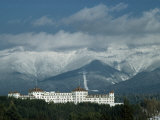 Cloud-Shrouded Mount Washington Frames Mount Washington Hotel