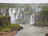 Below Normal Amount of Water Falling at the Famous Iguacu Falls