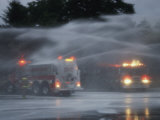 Water Jets Christen a New Fire Truck in New Jersey