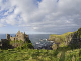 Ruins of 13th Century Medieval Dunluce Castle