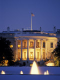 White House South Portico at Dusk