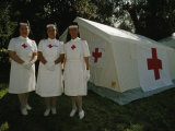Nurses Stand Ready to Lend Aid at a Horse Jumping Event in Rome