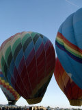 Crowds at a Hot Air Balloon Festival Await Balloon Lift Off