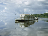 Underway Stern Wheeler Reflects in Placid Water of Congo River