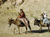 Kashgai Family on Baggage-Laden Burros Migrates to Mountain Pastures