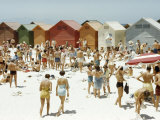 Afrikaners Relax on a Sunny  Cabana-Lined Beach