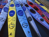 Group of Colorful Sea Kayaks