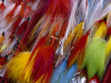 Colorful Fishing Lures Made with Feathers