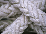 Close View of Thick  Weaved Rope