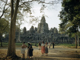 Tourists Visit a Ruined City of the Vanished Khmer Empire