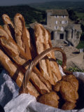 Fresh French Bread and Rolls in Provence  in the South of France