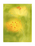 Stylized Yellow Flowers