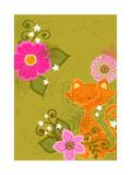Graphic Orange Cat
