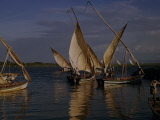 Fishermen Set Sail for Night Fishing on Lake Victoria