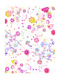 Bright Flower Swirl Pattern