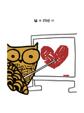 Love Owl Reproduction d'art