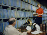 People Work in Rca Victor's Vault of Master Recordings