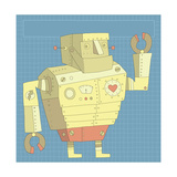 Happy Robot with Heart