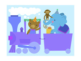 Birthday Train with Animals