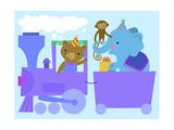 Birthday Train with Animals