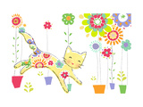 Cat with Flowery Pattern
