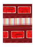 Cat Pattern on Red Background