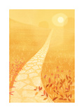 Golden Path in Sunlight