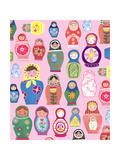 Happy Nesting Dolls Reproduction d'art