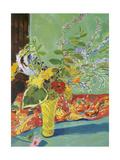 Plant Bouquet in Yellow Vase