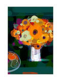 Orange Bouquet in Vase
