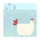 Chick on Farm Reproduction d'art
