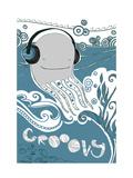 Octopus with Headphones