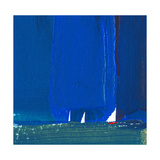 Blue Abstract with Sailboats