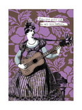 Victorian Woman Playing Guitar