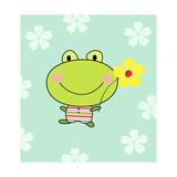 Frog Holding Flower