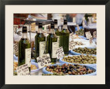 Olives and Olive Oil on Sale at a Market  Provence-Alpes-Cote-D'Azur  France