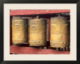 Religious Prayer Wheels  Ulaan Baatar  Mongolia