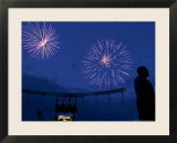 Fireworks at Kauffman Stadium  Kansas City  Missouri