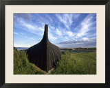 England  Lindisfarne: Viking Ship Turned Upside Down to Make a Work Shed
