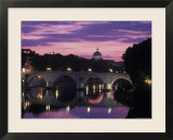Saint Peter's Basilica Church and the Tiber River  Rome  Italy