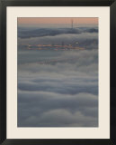 Fog Bank from the Berkeley Hills  San Francisco Bay  California