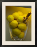 Lemons on Display in Italian Gelateria  Florence  Italy