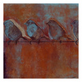 Row of Sparrows I