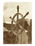 Sepia Ship's Wheel I