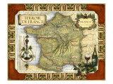 Carte des vins de France Reproduction d'art