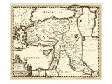 Antiquarian Map III Reproduction d'art