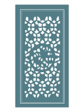 Shoji Screen in Teal II