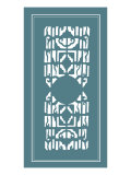 Shoji Screen in Teal I