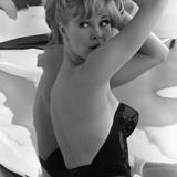 Model Posing in a Bustier  1960